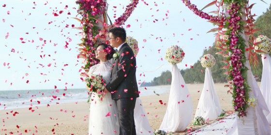 Wedding on the beach in Thailand